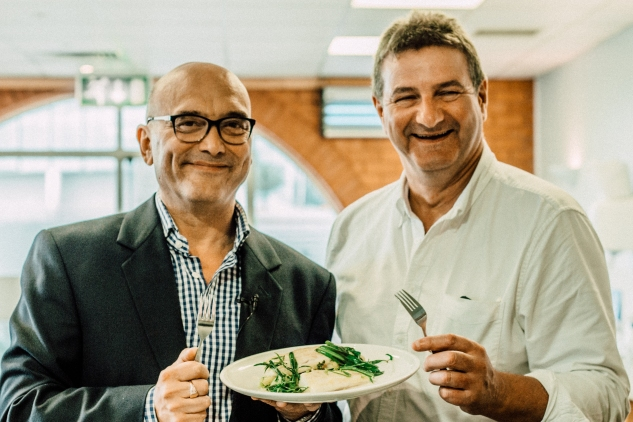 Gregg Wallace and Barrie Deas